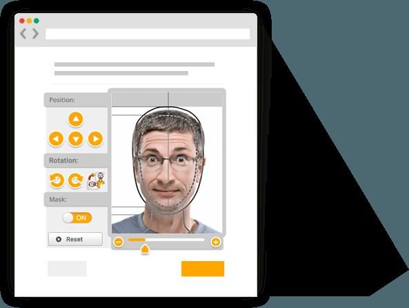 usphoto's Online Passport Photo Generator for creating biometric passport pictures